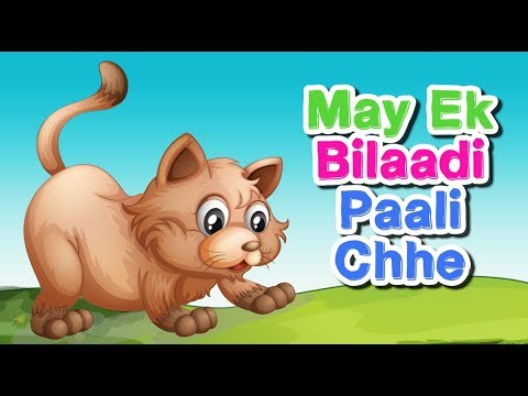 Gujarati Balgeet 2017  May Ek Bilaadi Paali Chhe  Gujarati Songs  Gujarati Nursery Rhymes