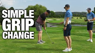 How To Strike Your Irons CONSISTENTLY | One SIMPLE Grip Change | ME AND MY GOLF
