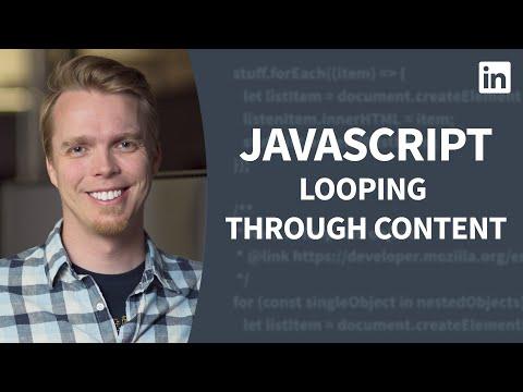JavaScript Tutorial - Working with loops