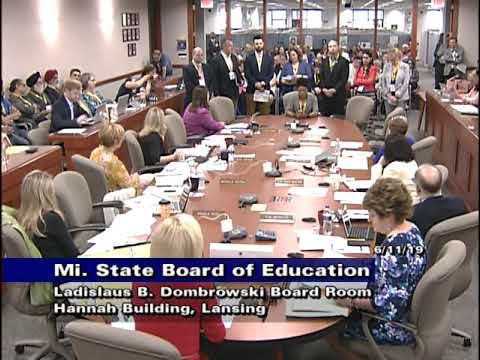 Michigan State Board of Education Meeting for June 11, 2019 - Afternoon Session Part 1 image