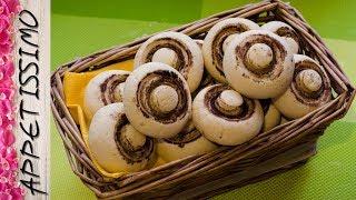 Песочное печенье Шампиньоны. Простой рецепт вкусного печенья / Mushroom Cookies Champignons