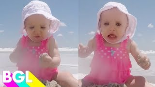 100 Funny Beach Babies | Cute Baby Videos