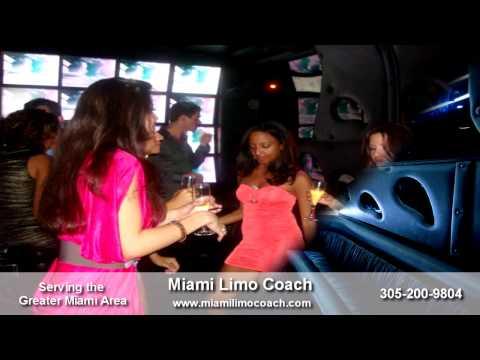 Miami Limo Coach - Party Bus Rental In Miami