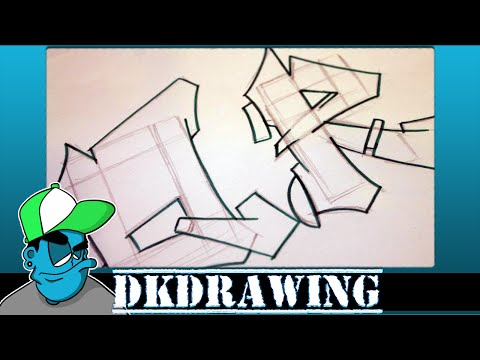 Graffiti Tutorial for beginners - How to draw cool letters Q & R