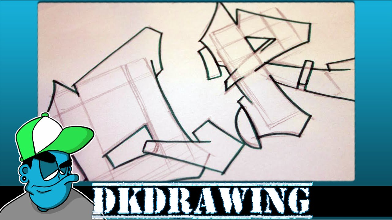 Graffiti Tutorial for beginners - How to draw cool letters Q & R - YouTube