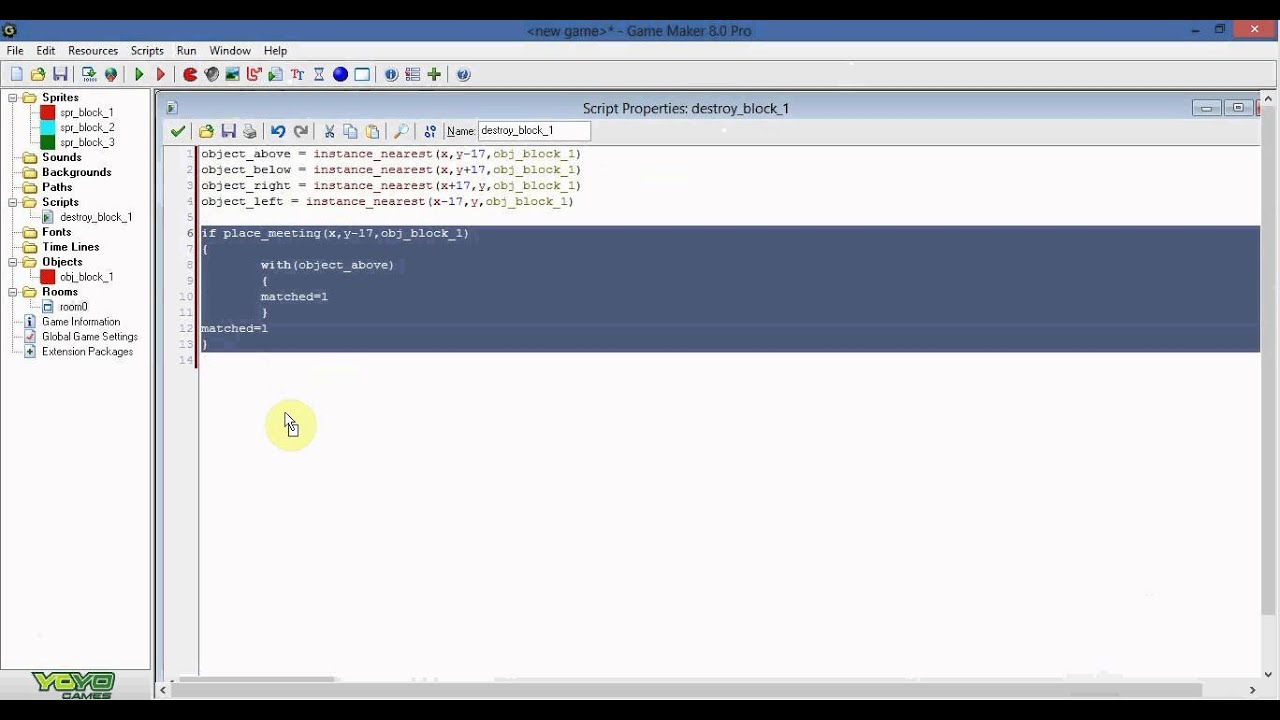 Gamemaker 8 Tutorial - How to make a Match 3 game - Part 1