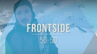 Школа сноуборда. Джиббинг. Урок 1 . Frontside 50 50