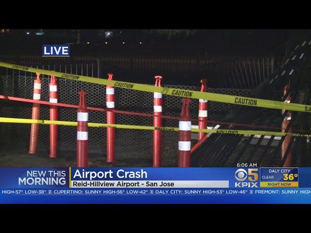 DUI AIRPORT CRASH: A suspected DUI driver crashes into gate at Reid-Hillview Airport