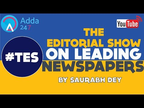 EDITORIAL DISCUSSION - ECONOMIC TIMES - 17th January - By Saurabh Dey