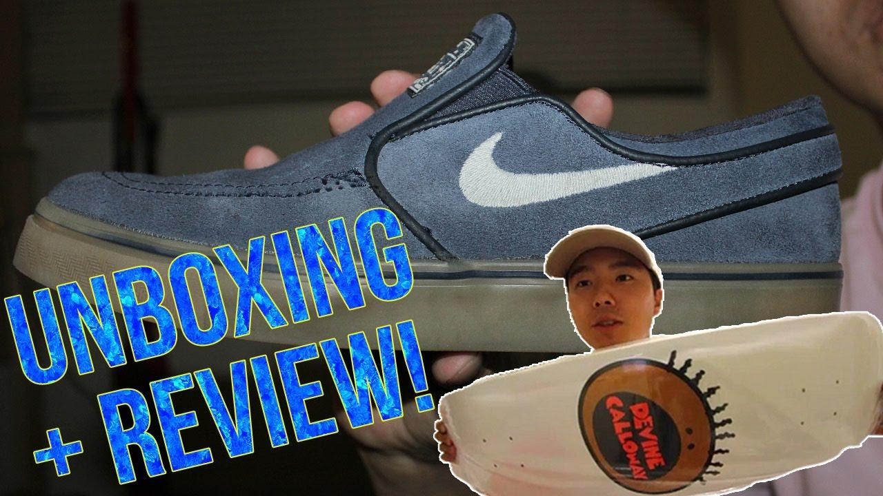 online retailer 17f27 d0c9c New Skateboard Unboxing!   Nike Sb Janoski Slip On Shoe Review