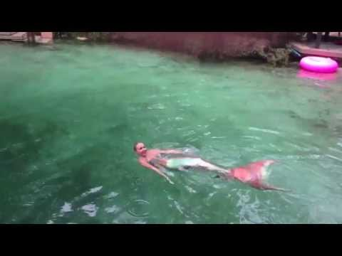 Real mermaids caught on video