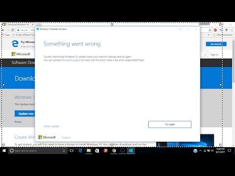 How to Fix Windows 10 Update Errors - 0x80072efe , 0x80072ee7 and 0x80072ee2