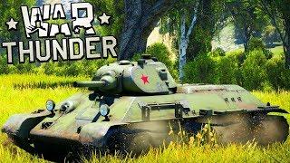 T-34 ► МОЯ ПЕРВАЯ ЛЮБОВЬ В WAR THUNDER! СОВЕТСКИЙ ТАНК ЛЕГЕНДА ВОВ В ВАР ТАНДЕР! ОБЗОР ТАНКОВ!