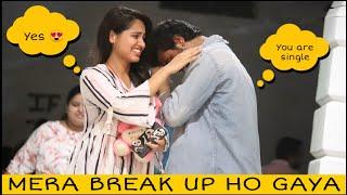 MERA BREAK UP HO GAYA PRANK ON CUTE GIRLS | PRANK STAR