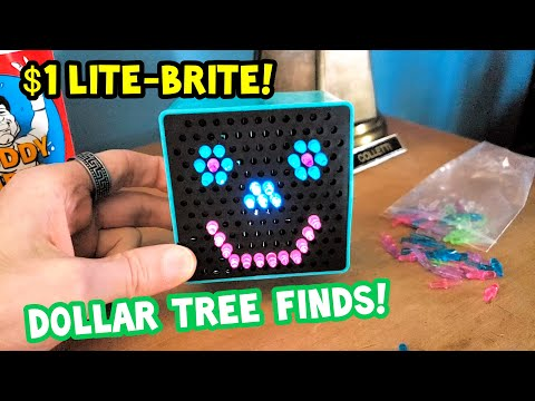 Lite Brite Mini Classic Toy Only $1 Review! Dollar Tree Store Finds!