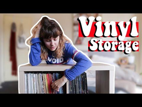 HOW I STORE MY VINYL RECORDS  🎶 simple vinyl record collection organisation idea with Ikea Kallax