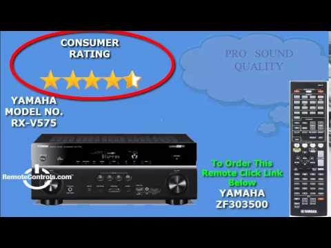 Review yamaha av receiver 7 2 ch network rx v575 youtube for Yamaha 7 2 receiver reviews