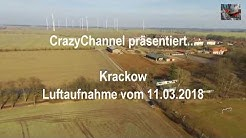 ➤ Luftaufnahme von Krackow (Landkreis Vorpommern-Greifswald) in Mecklenburg-Vorpommern