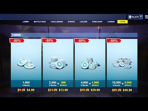 BUY Your V-BUCKS 50% CHEAPER With This METHOD In Fortnite! (PS4, PC, XBX1..)