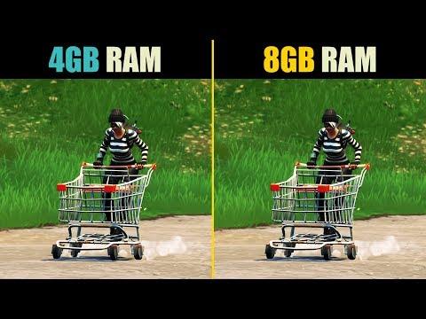 Fortnite 4GB RAM Vs. 8GB RAM (Frame Rate Stability Test)