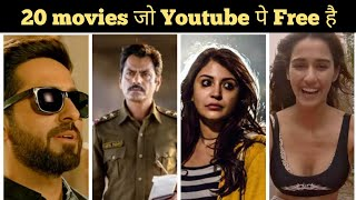 Top 20 Best Hindi Bollywood Movies on Youtube. Free Bollywood Movies to watch on Youtube.