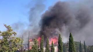 В Форосе сгорел детский лагерь