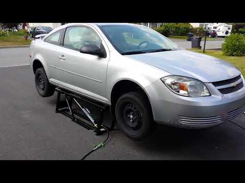 Chevy cobalt on BendPak Quick Jack 7000SLX