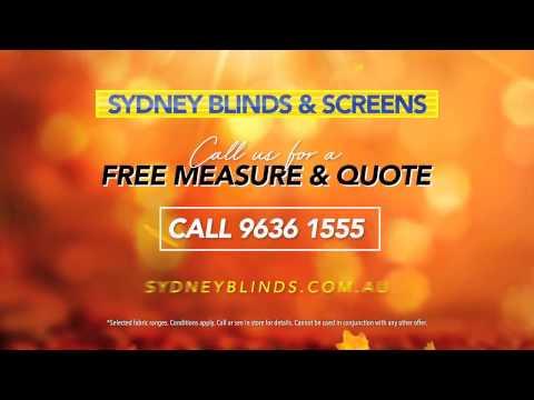 Sydney Blinds & Screens TVC Autumn 2017 - Roller & Shutter Specials