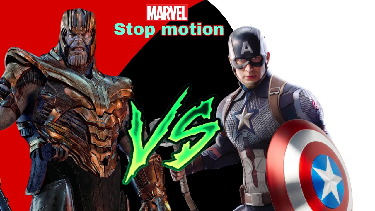 CAPITÁN AMERICA VS THANOS/ STOP MOTION
