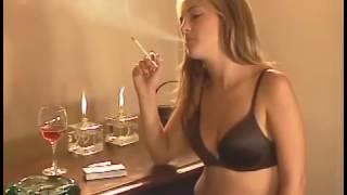 Young Student enjoying Smoking