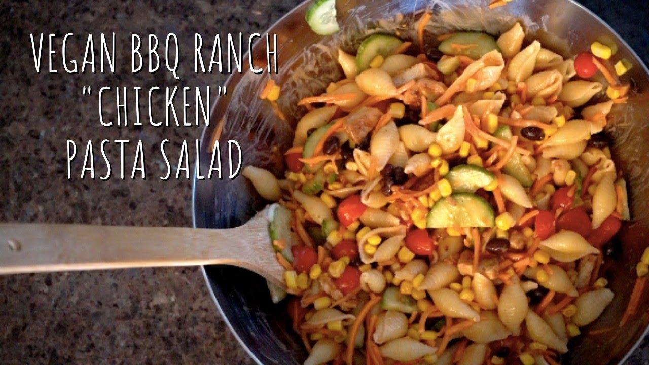"""Vegan BBQ Ranch """"Chicken"""" Pasta Salad with Gardein"""