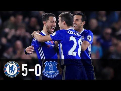 Chelsea vs Everton 5-0 All Goals & Extended Highlights Premier League 2016