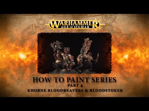 How to paint Warhammer Age of Sigmar part 4 - Bloodreavers & the Bloodstoker. thumbnail