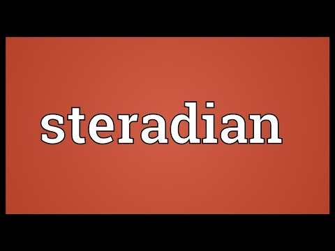 Steradian Meaning