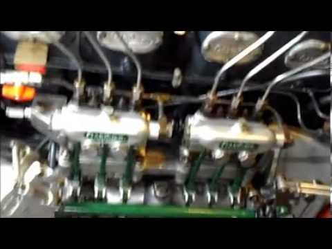 Gardner 6LXB Marine Diesel , First Start up of New Old Stock Engine