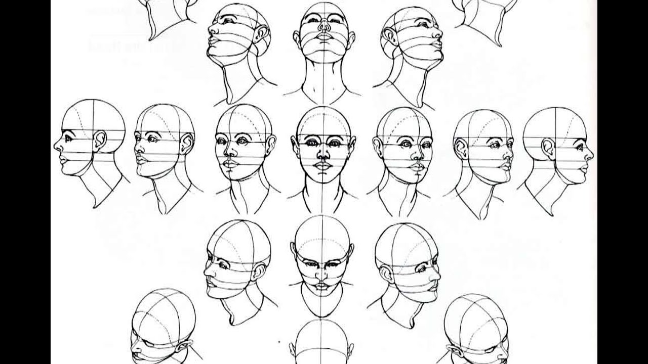 Drawing Faces Tutorial Youtube Face Portrait Drawing Tutorial How