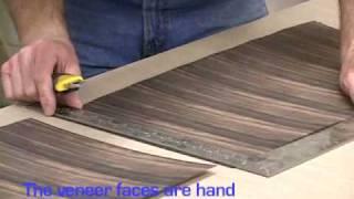 Part 2 - Ebony wood veneer cabinet from start to finish.