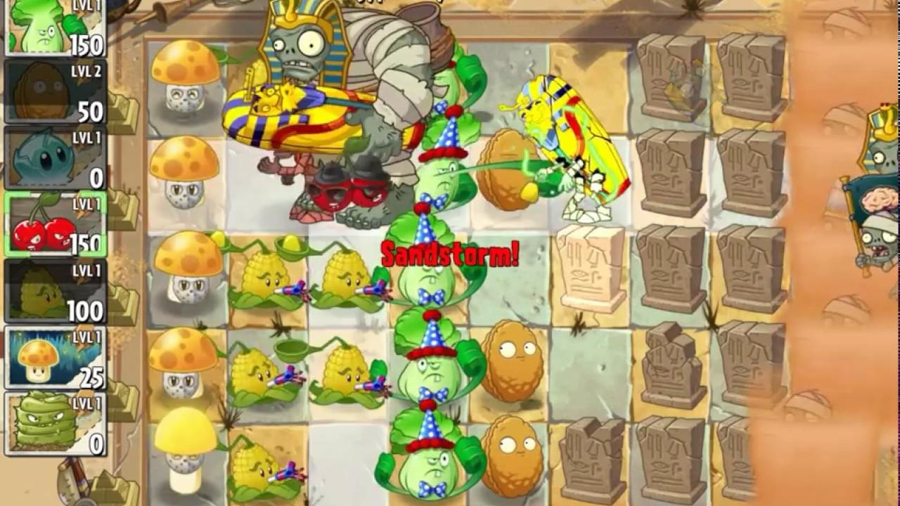 PvZ 2 - Ancient Egypt Day 26 - Plants vs Zombies 2 (Android / iOS)