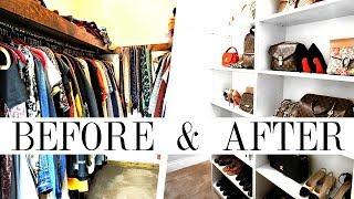 HOW TO MAKEOVER YOUR CLOSET | Handbag, Shoe & Clothing Organization | Shea Whitney