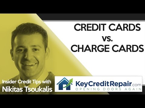 Key Credit Report: Credit Cards vs. Charge Cards