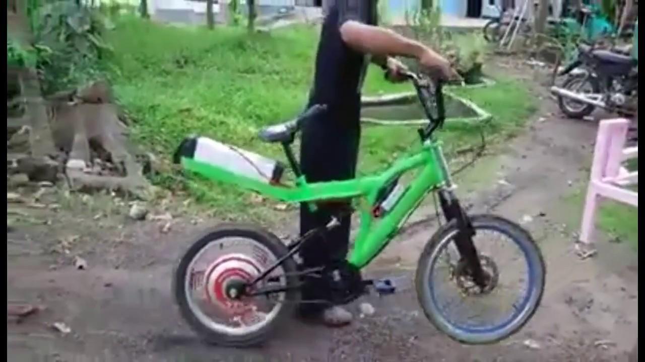 Cara Membuat Sepeda Listrik Sederhana Dan Ramah Lingkungan Youtube Motor Selis Type Trail