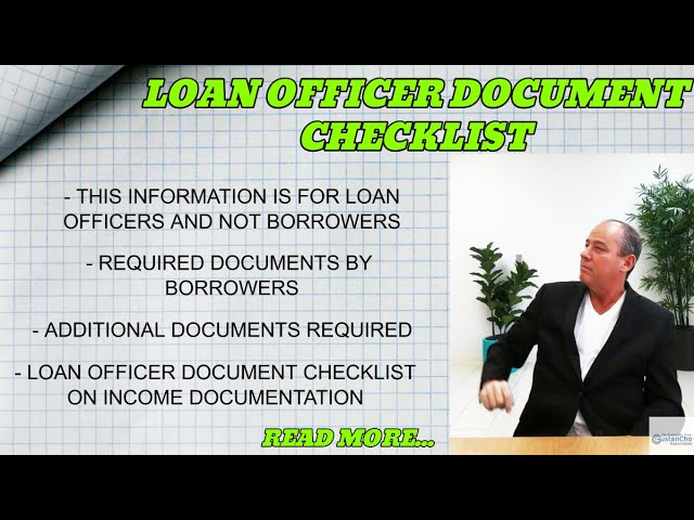 Loan Officer Document Checklist To Start Mortgage Process