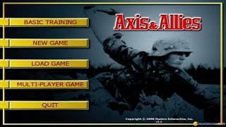Axis & Allies: Iron Blitz edition gameplay (PC Game, 1999)