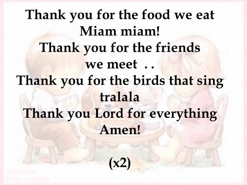Thank you for the food we eat