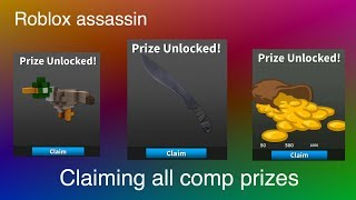 CLAIMING ALL MAY COMP REWARDS IN ROBLOX ASSASSIN