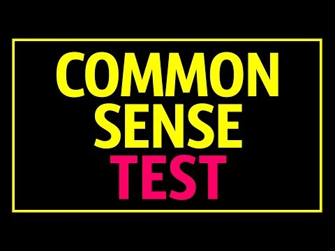 Common Sense Test That 90% of People Fail