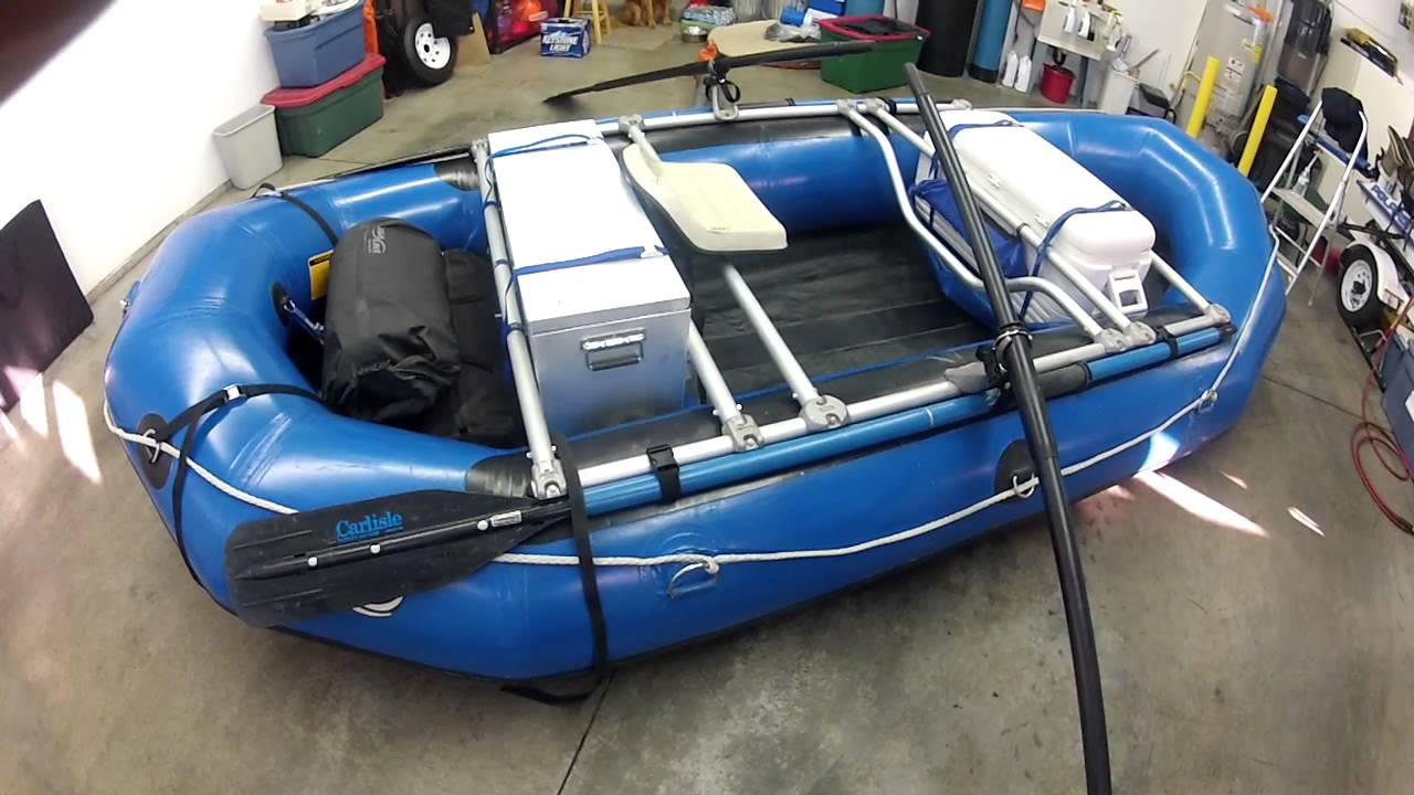14\' Achilles Raft with NRS Bighorn Frame Modification - YouTube