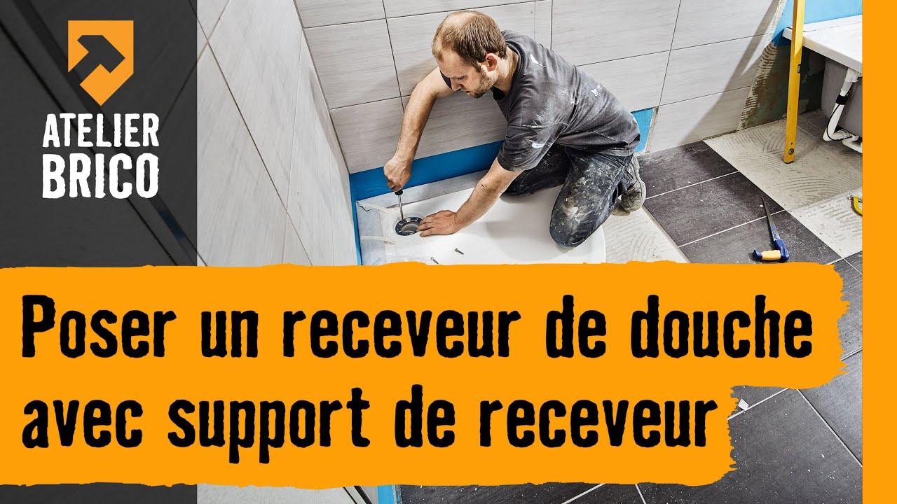 atelier brico hornbach monter un receveur de douche avec support de receveur