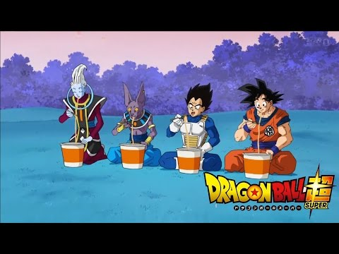 Dragon Ball Super - Whis, Beerus, Vegeta, and Goku eat Ramen