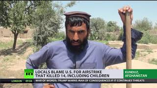 'We don't want US in Afghanistan!' Locals blame Washington for airstrike that killed 14